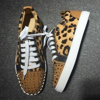 Christian Louboutin CL Low Style #2041 Sneakers Fashion Shoes Online