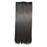 Ivisible Hair Weft Long Straight Hair Extension 5 Cards Wig natural color