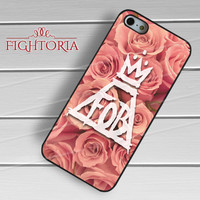 Fall Out Boy Logo Flower - zDzA for  iPhone 4/4S/5/5S/5C/6/6+s,Samsung S3/S4/S5/S6 Regular/S6 Edge,Samsung Note 3/4