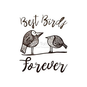 Best Birds Forever Waterproof Temporary Tattoos Lasts 3 to 4 days Choose Small, Medium or Large Sizes