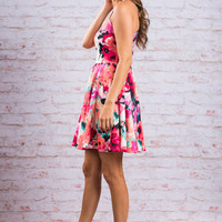 Loyal To Florals Dress, Grapefruit