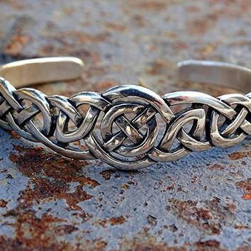 celtic cuff bracelet silver, silver mens cuff celtic knot, viking cuff for men womens celtic cuff bracelet solid silver viking cuff bracelet