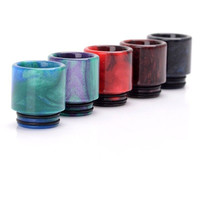 1PC Epoxy Resin Drip Tip Electronic Cigarette Accessoriy Round Style For Smoke TFV8 Color Beast Wide Bore Goon Rda Kennedy24