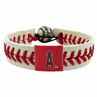 Gamewear MLB Leather Wrist Band - Angels (Red)