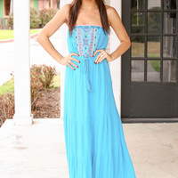 Turquoise and Caicos Maxi - Turquoise