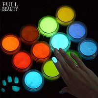 Fluorescent Glow In The Dark Dipping Nail Powder