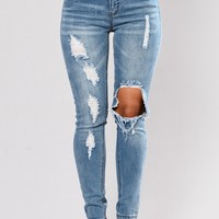 Beverly Skinny Jeans - Light Blue