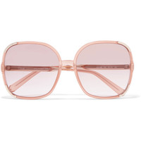 Chloé - Myrte square-frame acetate and gold-tone sunglasses