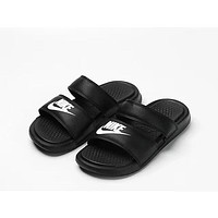 Nike Benassi Duo Ultra Fashion Women Men Casual Print Beach Shoe Slippers Black I-ADD-MRY