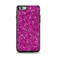 The Bright Pink Glitter Apple iPhone 6 Otterbox Symmetry Case Skin Set