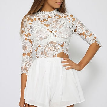 Karlene Playsuit - White
