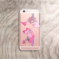 Watercolor World Map Phone Case - Pink