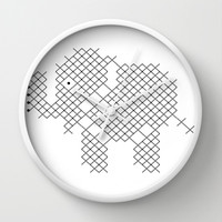 Elephant Wall Clock by Yasmina Baggili