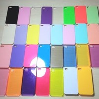 For Apple iPhone 4 / 4s Assorted Color Hard Plastic Snap On Case