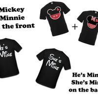 Disney  Mickey and Minnie with He's Mine and She's by CUSTOMCITY
