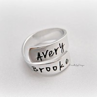 Personalized Hand Wrapped Ring