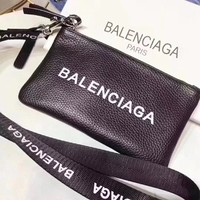 """Balenciaga"" Women Fashion Halter Letter Webbing Lanyard Mobile Phone Bag"