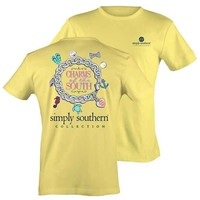 Simply Southern Preppy Collection Charm of the South T-Shirt PRPCHARM-BANANA-SS