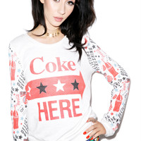 Classic Coke Here Verbiage Sweater White/Red