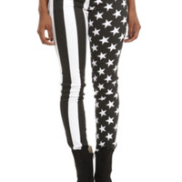 Royal Bones By Tripp American Flag Split Leg Skinny Jeans