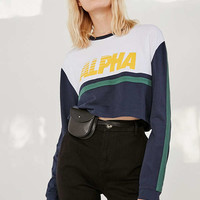 Alpha Striped Cropped Top | Urban Outfitters