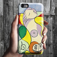 Reading - Pablo Picasso iPhone Case 6/6S, 6 Plus, 4S,5S. Mobile Phone Cell. Art Painting. Gift Idea. Anniversary. Gift for him and her