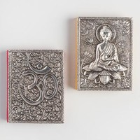 Small Embossed Metal Journals Set of 2