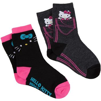 Hello Kitty - Pocket Kitty & Black Cat Kids Socks 2 Pack