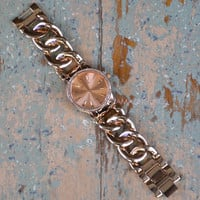 Cloverly Rose Gold Chain Link Watch
