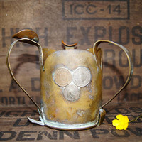 WW1 Trench Art Pipe Ashtray with Coins