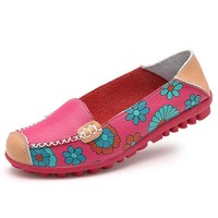 Cow Muscle Flower Loafers