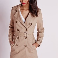 Missguided - Double Breasted Belted Trench Coat