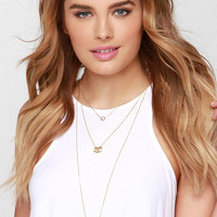 Pretty Little Layer Gold Layered Necklace