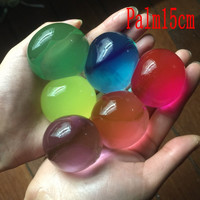30pcs 10-12mm Pearl Shape Soft Orbiz Ball Crystal Soil Kids Toy Growing Water Balls Hydrogel Gel  Water Beads Home Decor