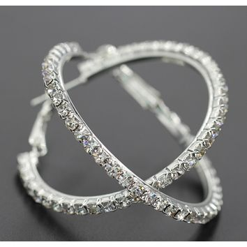 New stylish rounded flash earrings jewelry