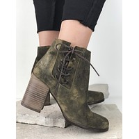 Dream On Leather Bootie - FINAL SALE
