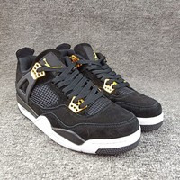 "Women's and Men's NIKE Air Jordan 4 NRG ""Raptors""  Retro Royalty 002"