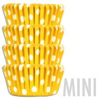 Mini Yellow Polka Dot Baking Cups