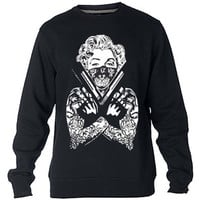 Marilyn Monroe Gun New Sweatshirt Sweater Crewneck Men or Women Unisex Size