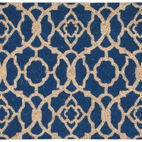 Waverly Greetings Lovely Lattice Ocean Doormat by Nourison