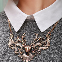 Elk license fake collar sweater necklace [mls06] - $12.99 : Favor21.com--Supply super low prices fashion jewelry and costume jewelry