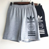 ADIDAS PRINT Stretch Pants Trousers Sweatpants Shorts H-RELAX-XS