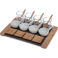 Boston International Small Bites 17 Piece Deluxe Tapas Serving Set
