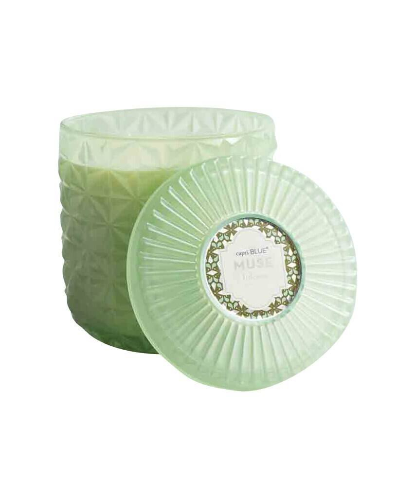 Image of Mint Faceted Jar Volcano Candle Jumbo 30 oz