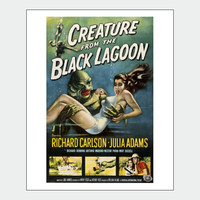 Creature From The Black Lagoon Vintage Horror Poster Print