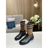lv louis vuitton trending womens men leather side zip lace up ankle boots shoes high boots 218
