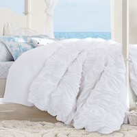 Kelly Slater Organic Tide Ruched Duvet Cover + Sham