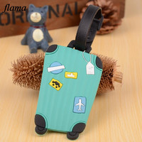 Candy Color English Letter Luggage Label Strap Suitcase Name ID Address Tags Luggage Tags D37A14