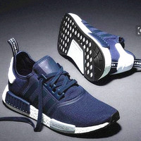 """Adidas"" Women Fashion Trending Running Sports NMD Shoes Navy Blue"