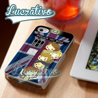 One Direction Tardis - iPhone 4/4s/5/5s/5c Case - Samsung Galaxy S2/S3/S4 Case - Black or White
